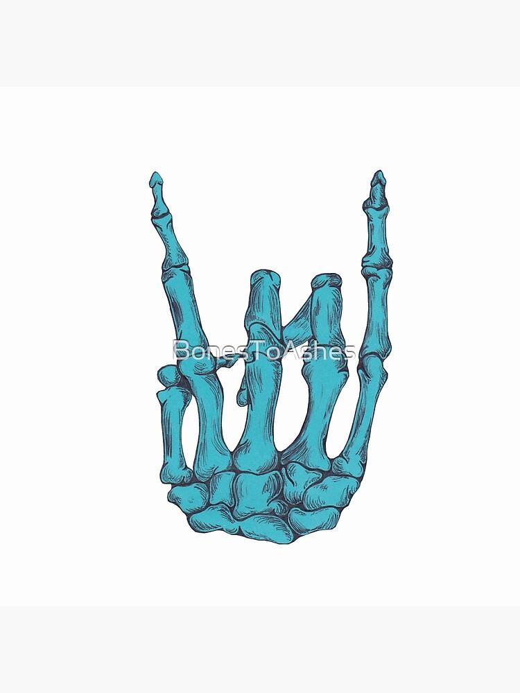 Rock auf Skelett Hand - blau von BonesToAshes