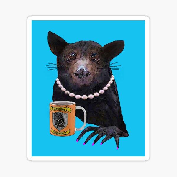 Batzilla - Battie's Tea Time Sticker