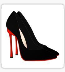 red heels black shoes Sticker