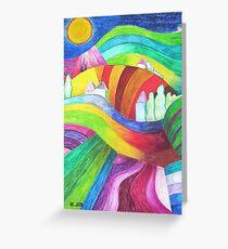 rainbow hills Greeting Card