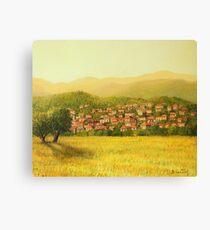 Golden Rural Scene Canvas Print