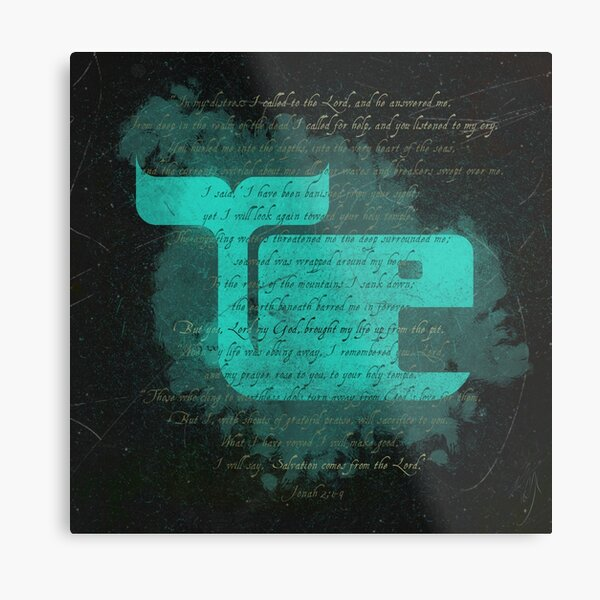 Jonah's Prayer Metal Print