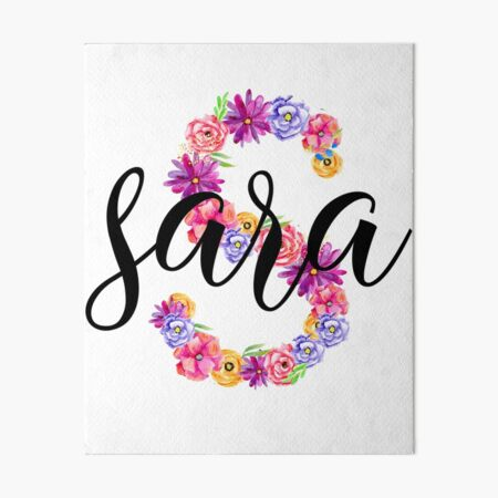 Nombre Sara + Letra S Lámina rígida