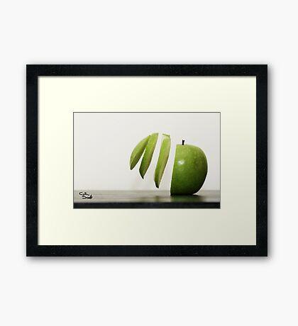Sliced Apple Framed Print