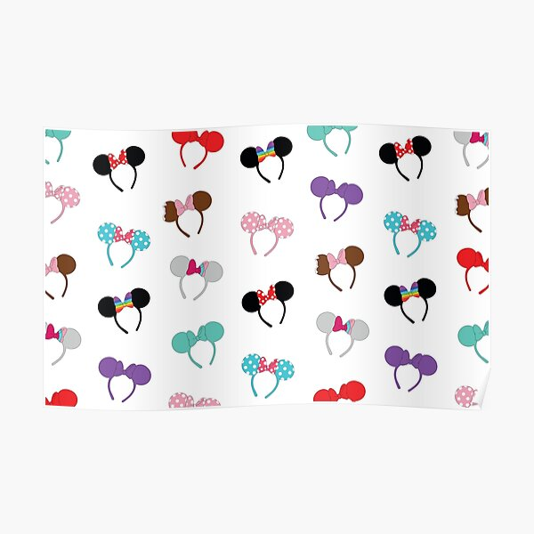 Mouse Ears Pattern Poster