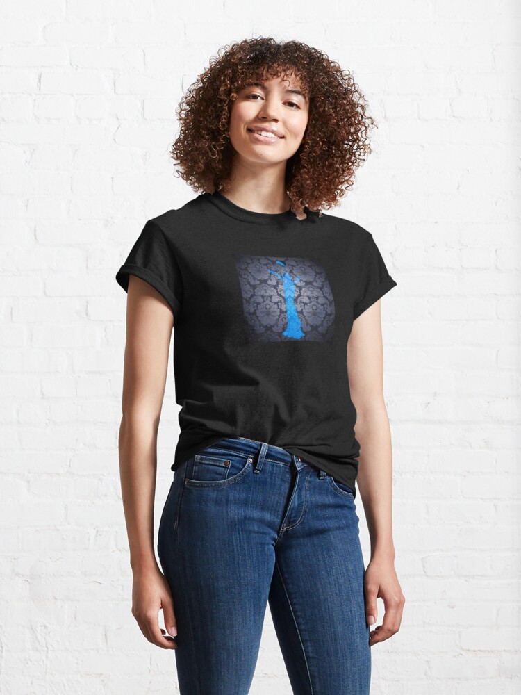 Alternate view of The Blue Ghost Downstairs Classic T-Shirt