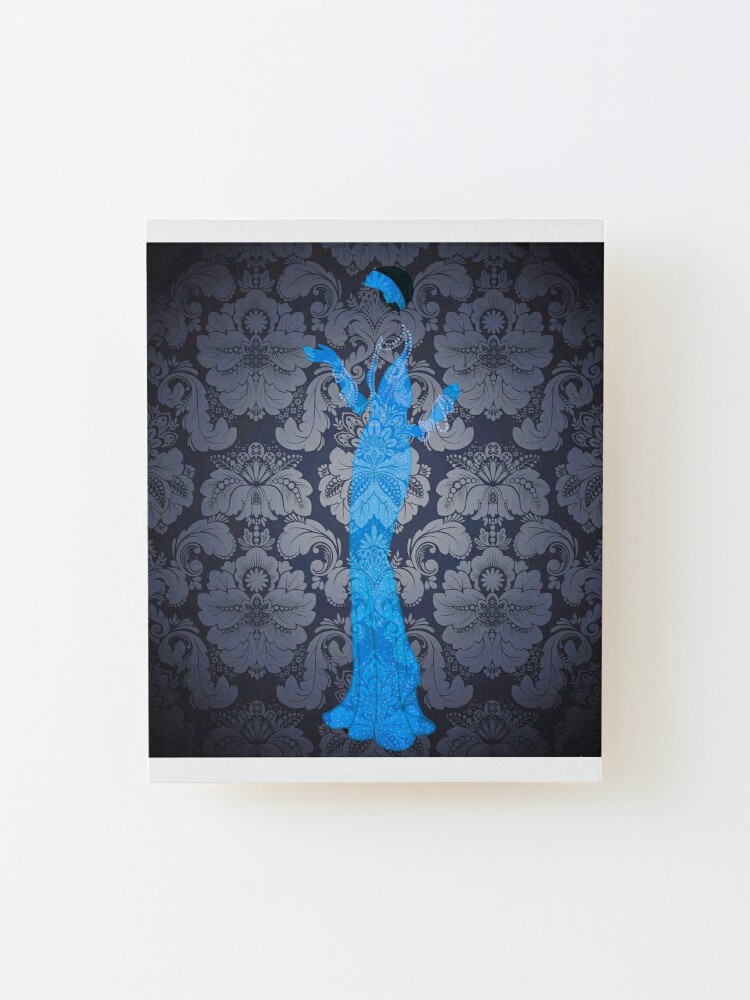 Alternate view of The Blue Ghost Downstairs Mounted Print