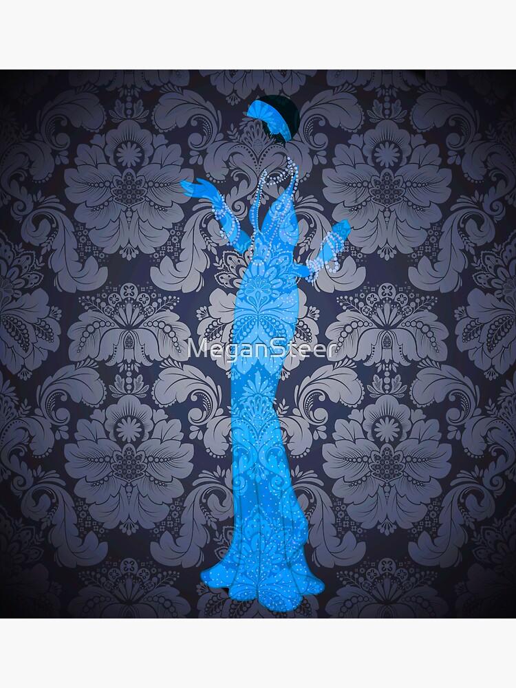 The Blue Ghost Downstairs by MeganSteer