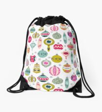 Ornaments - White by Andrea Lauren  Drawstring Bag