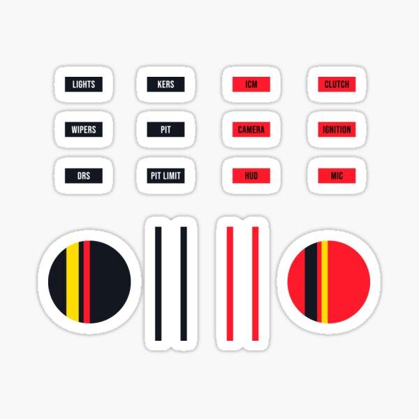 SimRig sticker set - Red/Navy Sticker