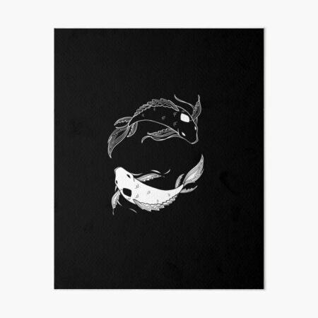 white on black spirit fish atla Art Board Print
