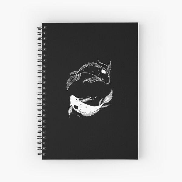 blanc sur noir esprit poisson atla Cahier à spirale