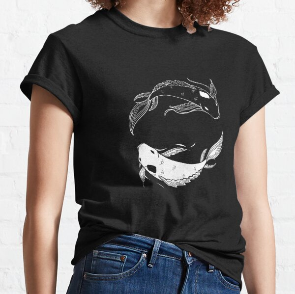 white on black spirit fish atla Classic T-Shirt