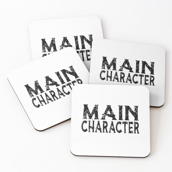 Main Character Funny Coasters (Set of 4)