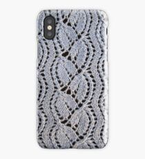 Dayflower knitted lace iPhone Case