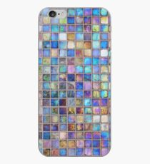 Iridescent glass mosaic blue/multi iPhone-Hülle & Cover
