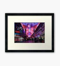 Fremont Street Experience Framed Print