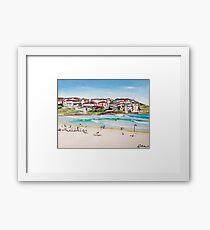 Bondi Beach at its best  Framed Print