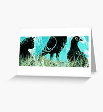 Cat Among the Pigeons Greeting Card
