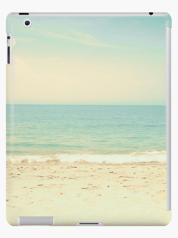 Mint Pastel Pale Blue Beach  by Caroline Mint
