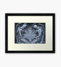 two archangel with cross Framed Print