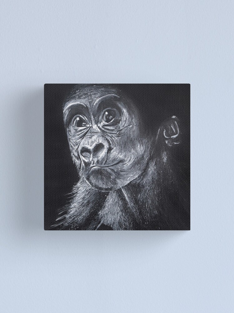 Alternate view of Baby Gorilla Canvas Print