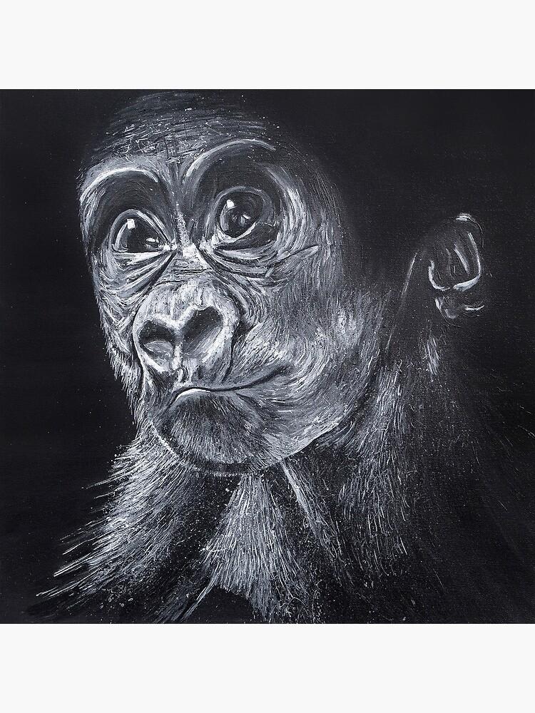 Baby Gorilla by handonart-com