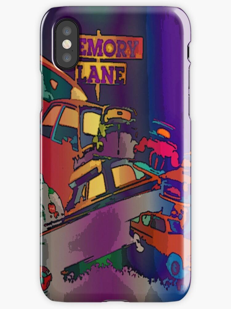 Classic car memory lane iphone case by sarnia2