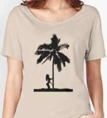 palm woman Women's Relaxed Fit T-Shirt