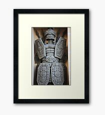 warrior antique military armor Framed Print