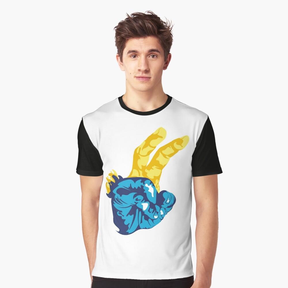 Nudibranch Hand Signal Graphic T-Shirt