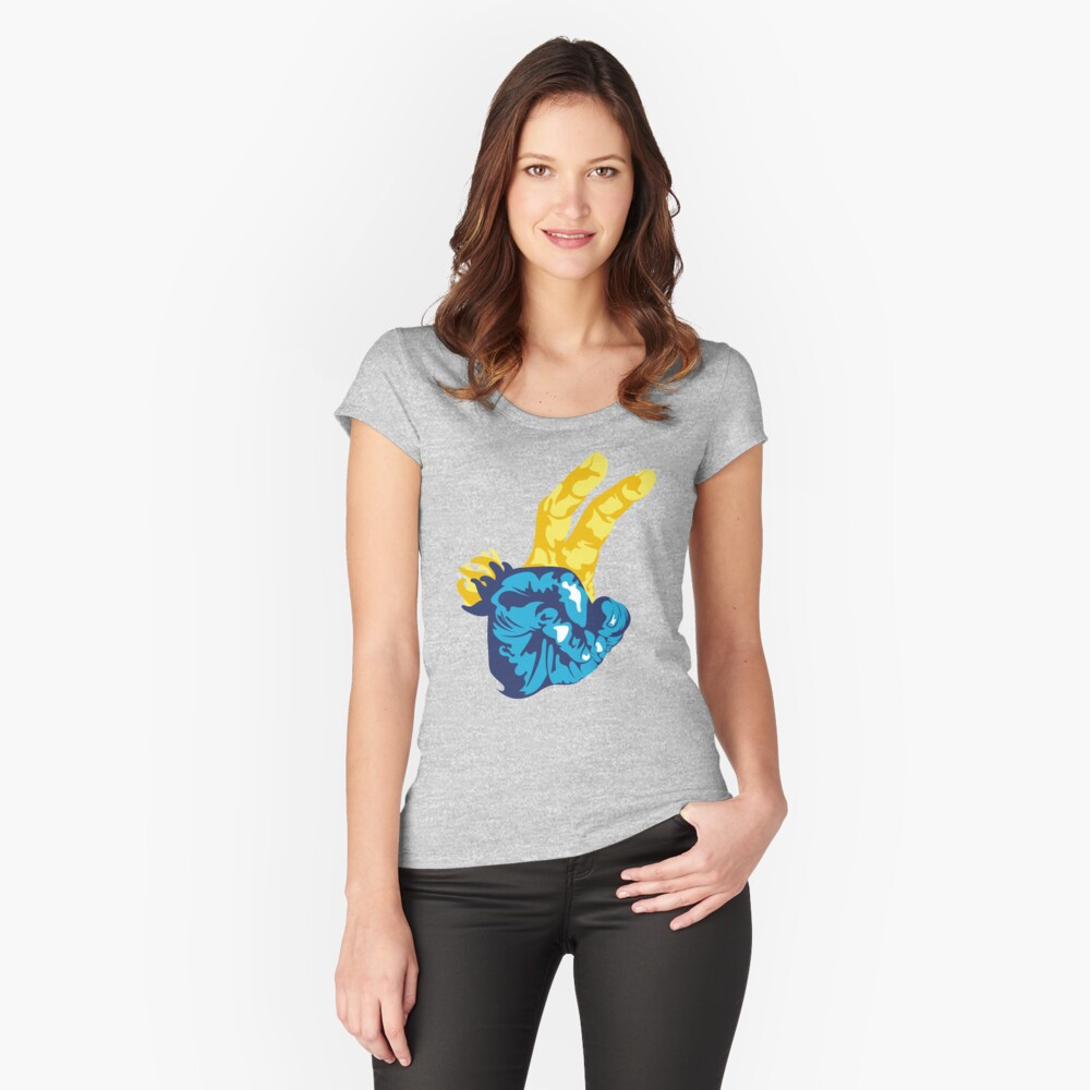Nudibranch Hand Signal Fitted Scoop T-Shirt