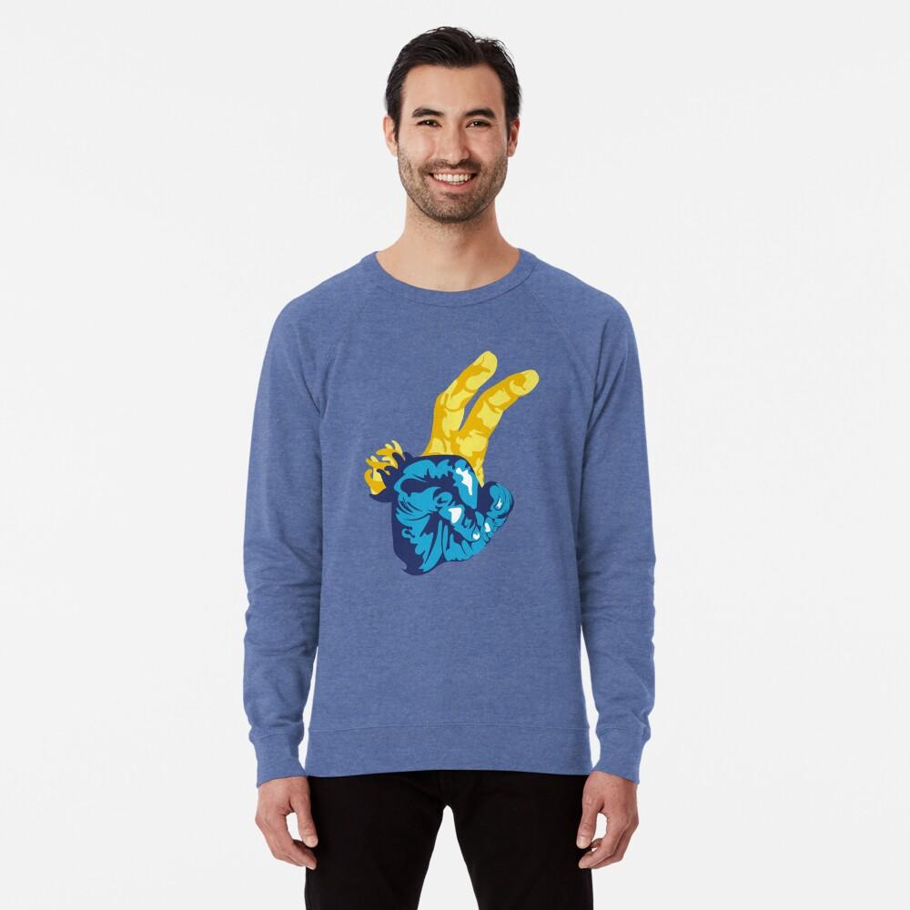 Nudibranch Hand Signal Lightweight Sweatshirt