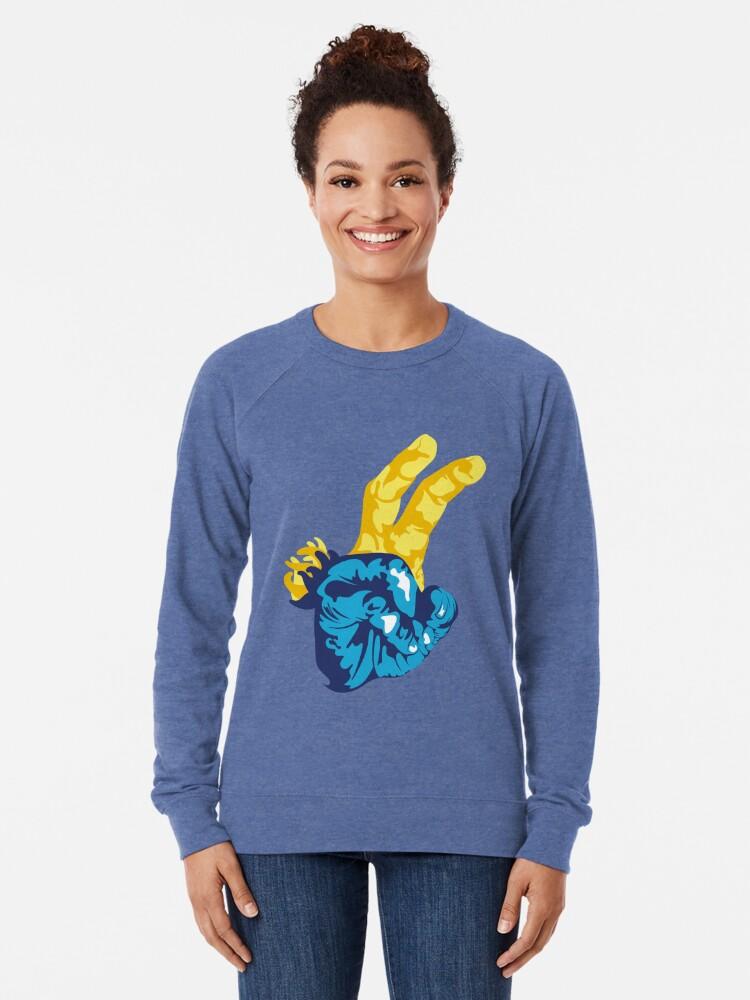 Alternate view of Nudibranch Hand Signal Lightweight Sweatshirt