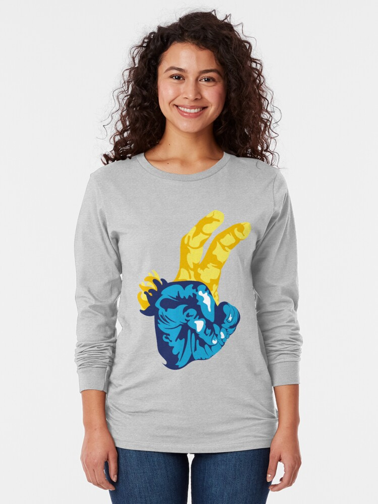 Alternate view of Nudibranch Hand Signal Long Sleeve T-Shirt