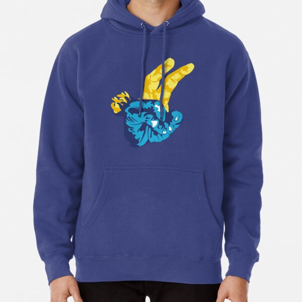 Nudibranch Hand Signal Pullover Hoodie