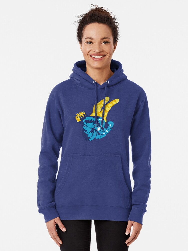Alternate view of Nudibranch Hand Signal Pullover Hoodie