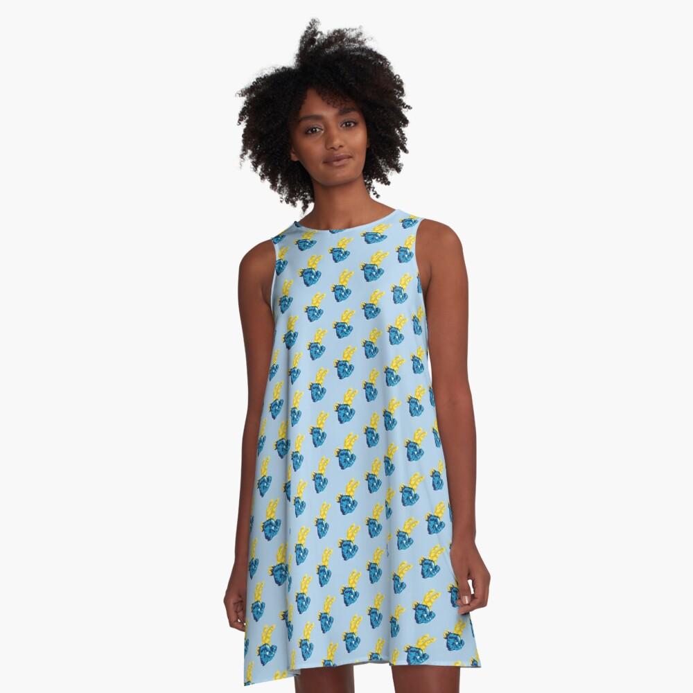Nudibranch Hand Signal A-Line Dress