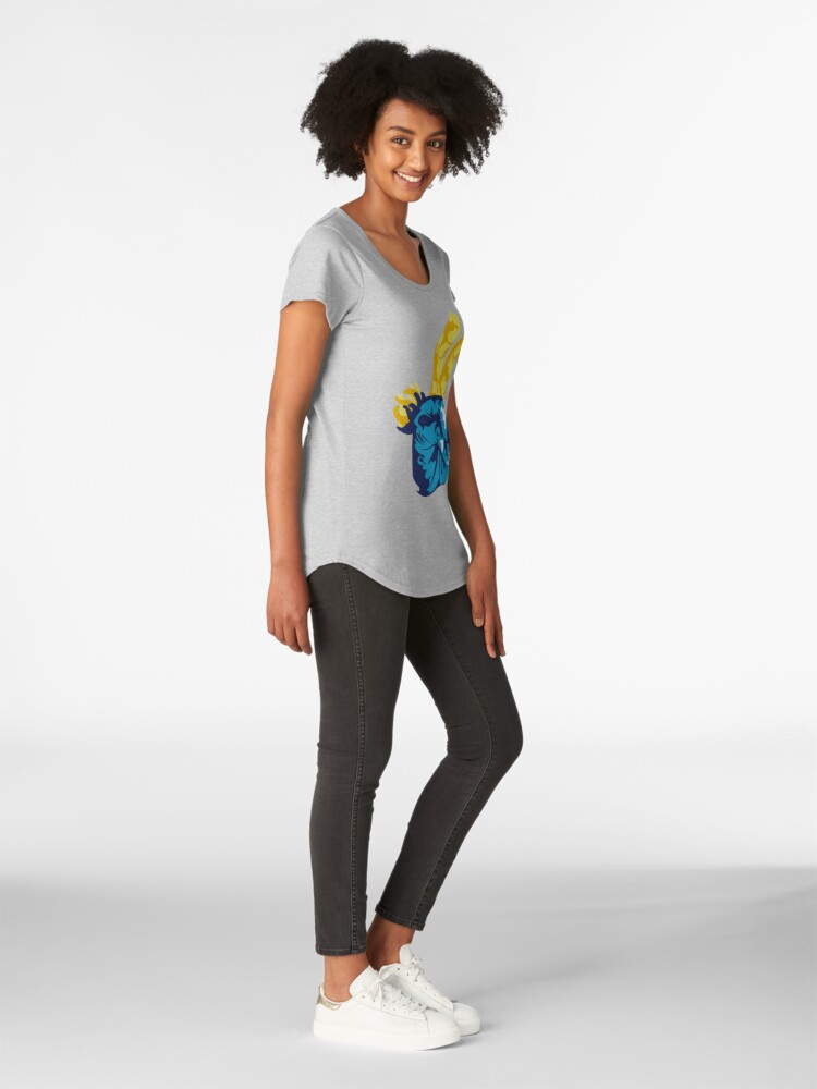 Alternate view of Nudibranch Hand Signal Premium Scoop T-Shirt