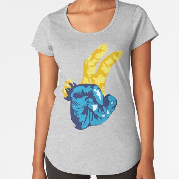 Nudibranch Hand Signal Premium Scoop T-Shirt
