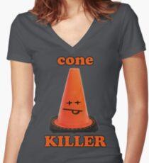 Cone killer  Women's Fitted V-Neck T-Shirt