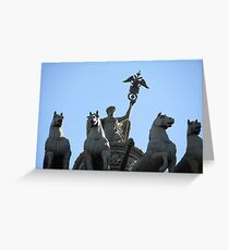 Nike on the triumphal chariot Greeting Card