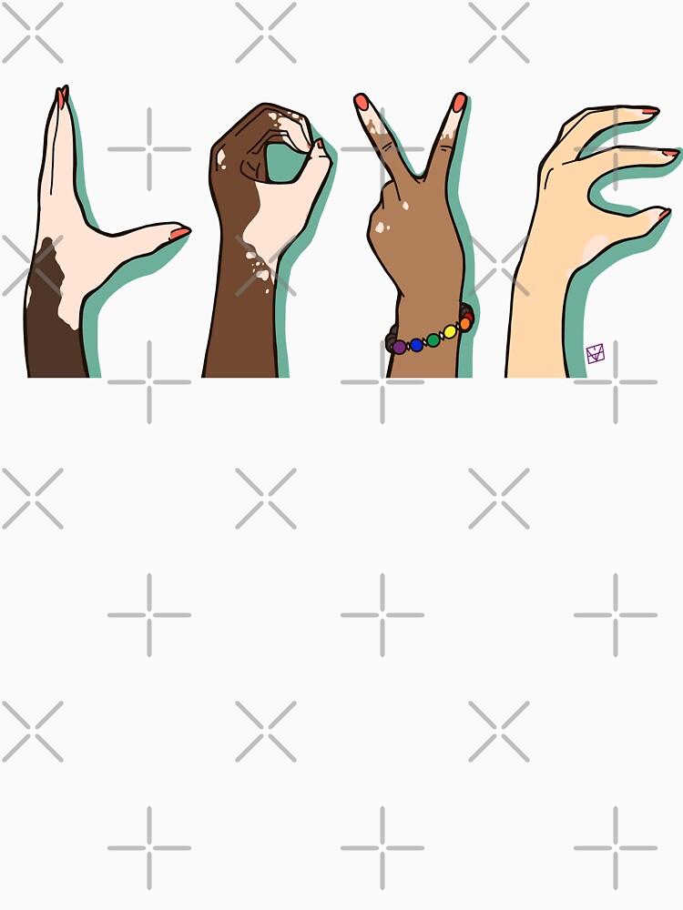 LOVE BLM PRIDE Vitiligo Support  by MaeganCook