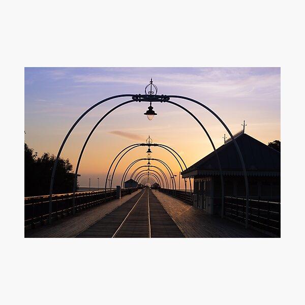 Southport Pier sun set Photographic Print