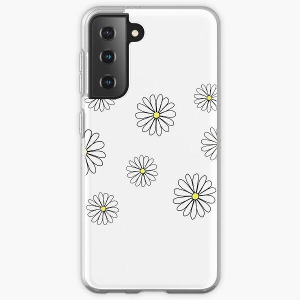 White Daisy doodle  Samsung Galaxy Soft Case