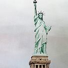 Statue of Liberty iphone case by susan stone