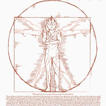 Vitruvian Ultra Man by JKTees