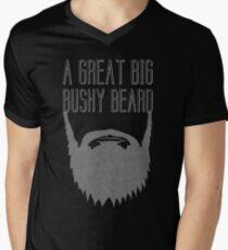 A Great Big Bushy Beard! Men's V-Neck T-Shirt
