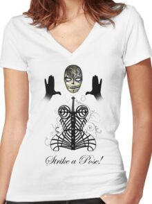 MDNA - Strike a Pose! Women's Fitted V-Neck T-Shirt