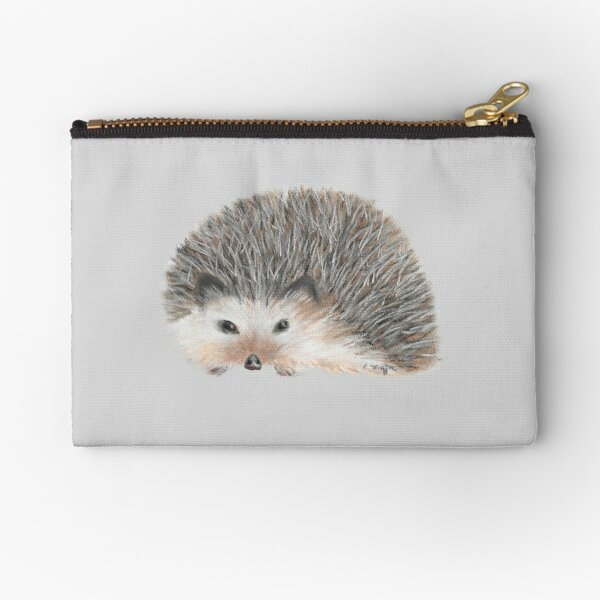 Cute Hedgehog Tatra Cottage Zipper Pouch